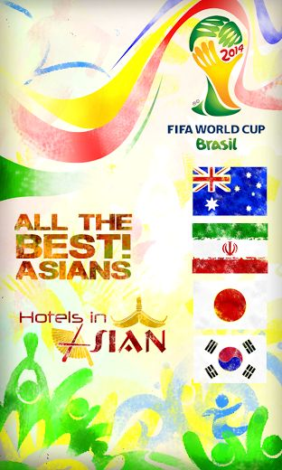 Good luck to all Asian Players at the #FIFAWorldCup in Brazil!