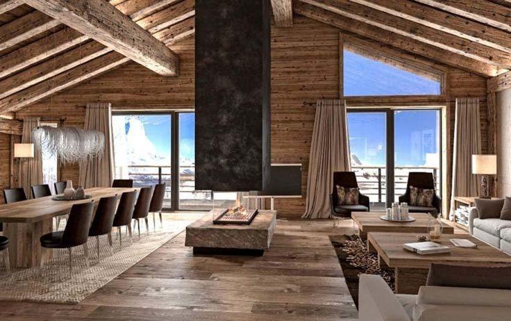 Luxuriöse Skihütte mit faszinierendem Blick auf das Matterhorn – Besten Haus Dekoration