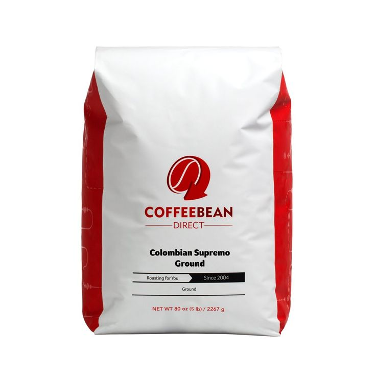Coffee Bean Direct Colombian Supremo, Ground Coffee, 80-Ounce Bag
