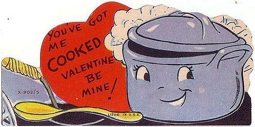 COOKING POT Vintage Valentine Cards Foods Amp Cooking