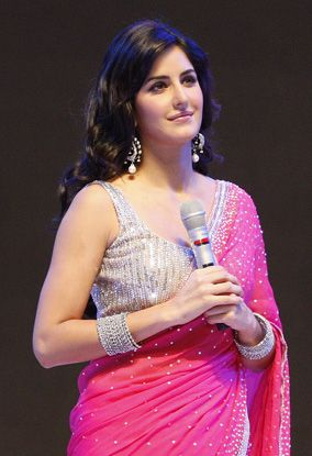 katrina in Pink and silver saree