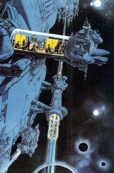 Futuristic, Sci-Fi, retro future, space fiction, life in space, Jean Claude…