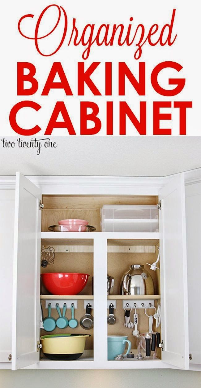 Best DIY Projects: Organized baking cabinet!