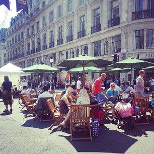#RegentStreet visitors enjoying al fresco dining at #SummerStreets