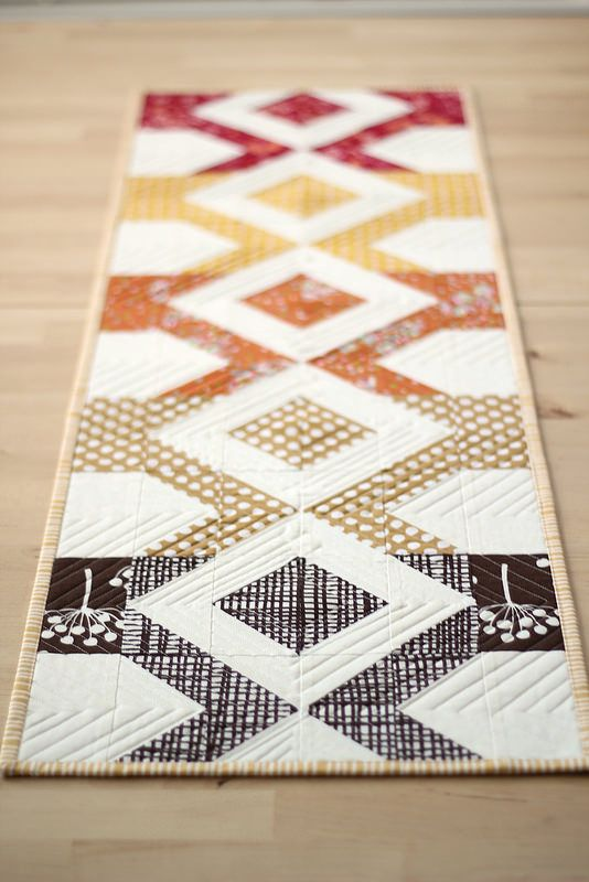 Fall Table Runner - no pattern :-(