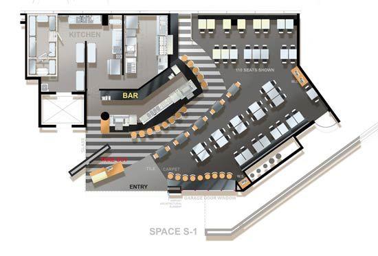 Restaurant Floor Plan by Restaurant Consultants