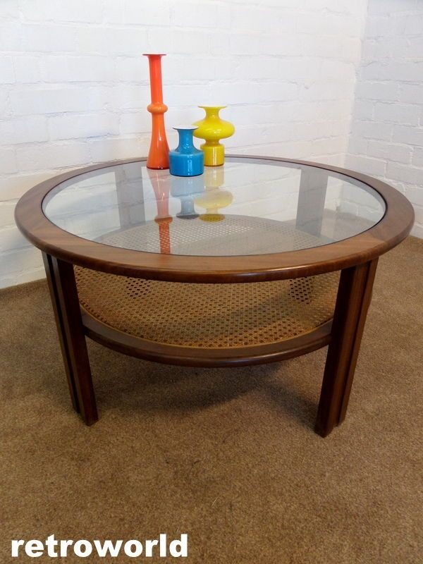 60s 70s Mid Century Retro Vintage G PLAN Teak U0026 Glass Coffee Table Danish  Era