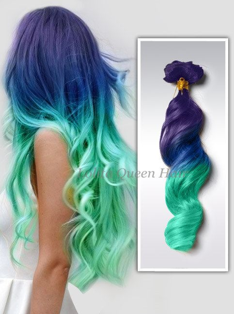 Mint pastel hair extensions Violet WigsHair by LolitaQueenHair