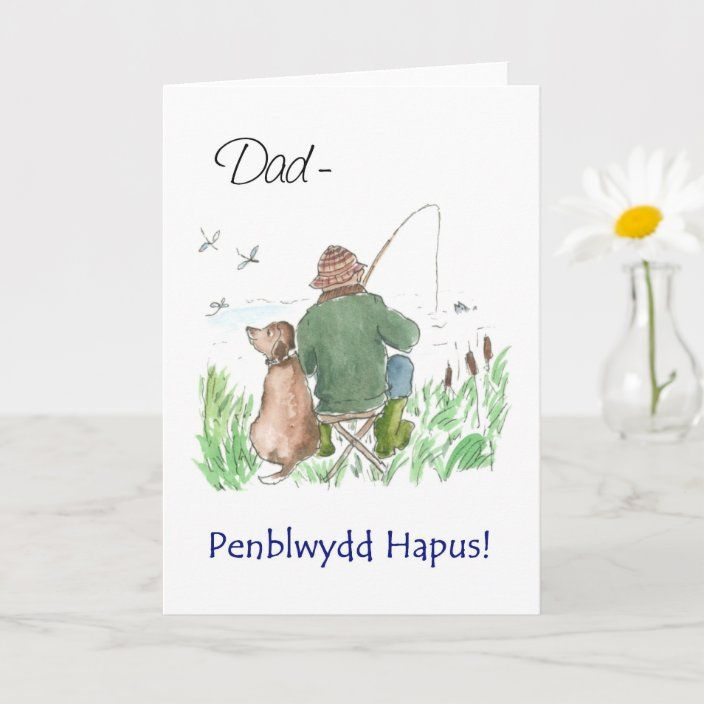Welsh Greeting Birthday Card For A Man Fishing Zazzle Com 60th Birthday Cards 50th Birthday Cards Birthday Cards