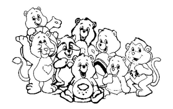 40 best images about care bear cousins 4 on pinterest coloring pages for kids and coloring pages Heart Care Bear Coloring Pages  Care Bear Cousins Coloring Pages