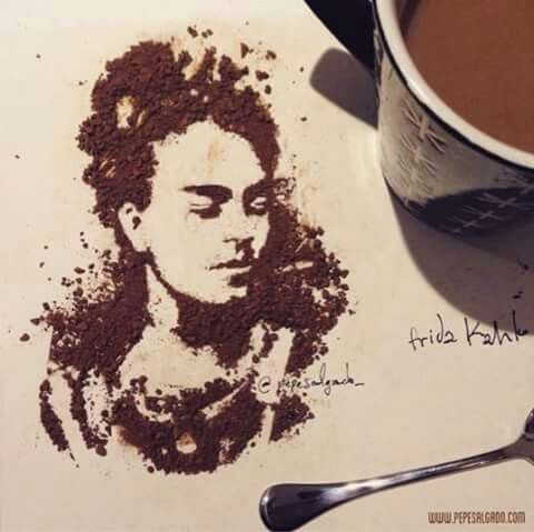 Frida Kahlo Art Coffee .