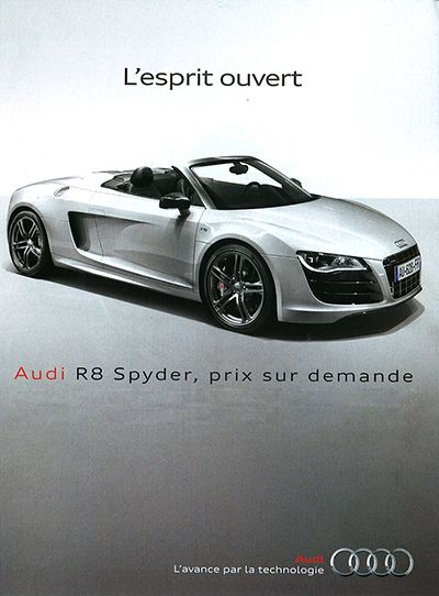 www.asitag.com | Interactive ad proposal for the Audi R-8 Spyder