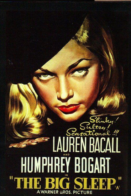 """Lauren Bacall in """"The Big Sleep"""" poster"""