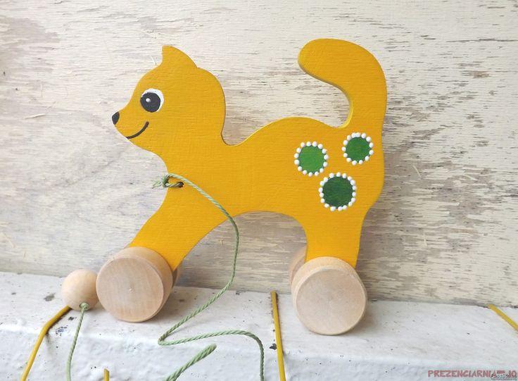 Das+gelb+Kätzchen+zu+auf+dem+Schnürchen+zu+ziehen+von+Prezenciarnia-jo+auf+DaWanda.com