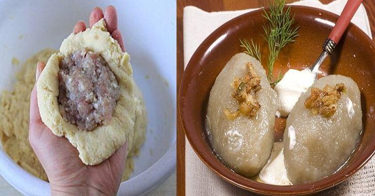 Dnes se s vámi podělíme o recept, který pochází z Litvy. Tyto bramborové ceppeliny se nedají srovnat s žádným jiným jídlem – mají blízko k masovým knedlíkům, pirohům či bramborovými karbanátkům. Doporučujeme tento pokrm podávat s kysanou smetanou nebo máslem. Nejlépe chutnají s rozpuštěným máslem, slaninou a osmaženou cibulkou. potřebujete: 12 brambor 1 vejce 65g …