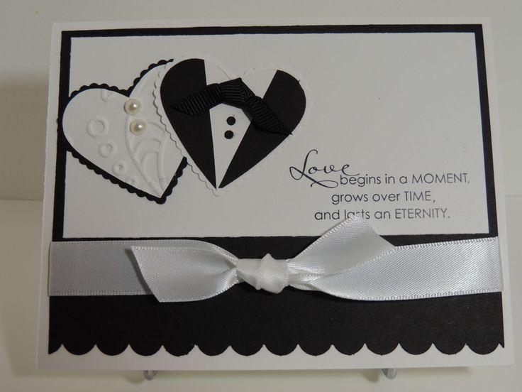 """Stampin Up """"Love Begins in A Moment"""" Wedding Card Handmade Card"""