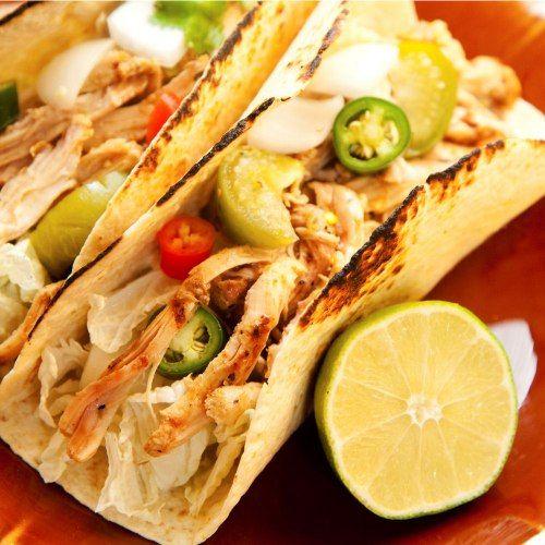 #Tacos di #coniglio con salsa di verdurine e crema piccante - #ricetta #etnico #messico #cucina
