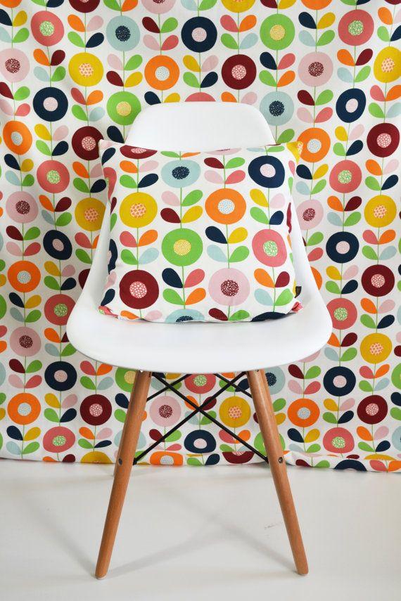 Swedish Scandinavian fabric  Per metre  Multi Stem by Andshine