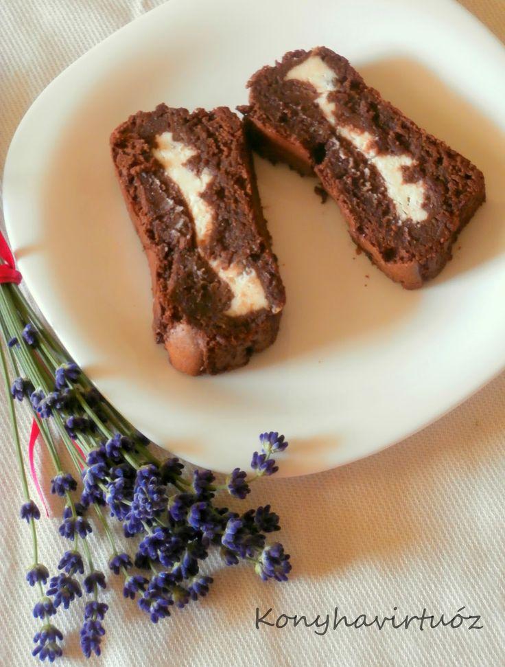 Konyhavirtuóz: Levendulás-krémsajtos csokis brownie