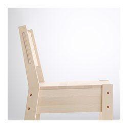 IKEA - NORRÅKER, Barkruk met rugleuning, Duurzaam en slijtvast; geschikt voor gebruik in openbare ruimtes.Elke barkruk is door de variërende adering en de natuurlijke klernuances uniek; dat is ook een deel van de charme van hout.Massief berken is een slijtvast natuurmateriaal.Met voetsteun: biedt ondersteuning aan vermoeide voeten.Stapelbaar; plaatsbesparend als de stoelen niet gebruikt worden.