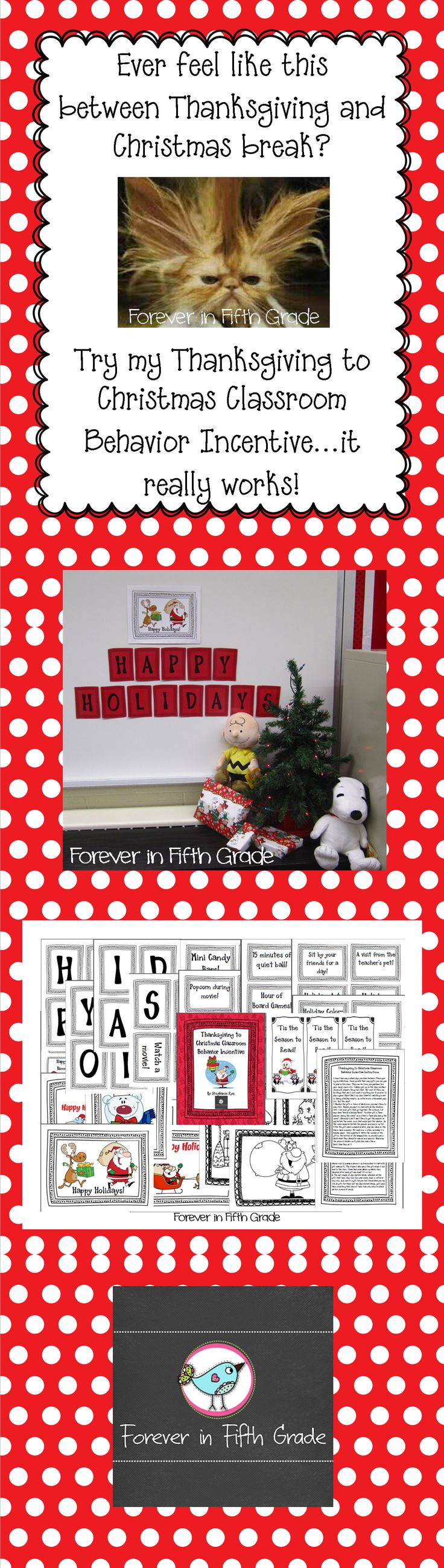 Keep your sanity with this Classroom Behavior Incentive!  $