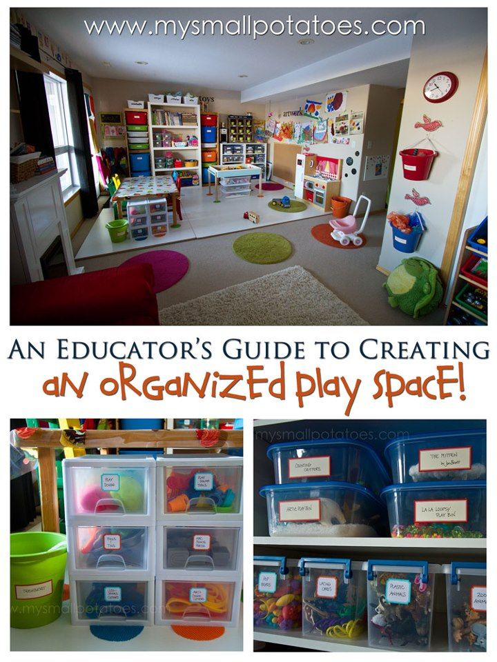 An amazing play space over at Small Potatoes - I love all these tips and ideas for organizing toys and resources.