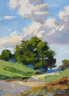California Impressionist Plein Air Landscape Painting by artist Tom Brown