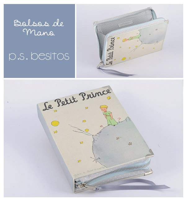 Le Petit Prince Book Clutch in Grey.