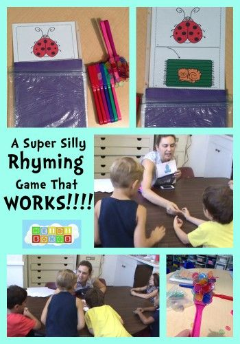 A Super Silly Rhyming Game that WORKS!  #kindergarten