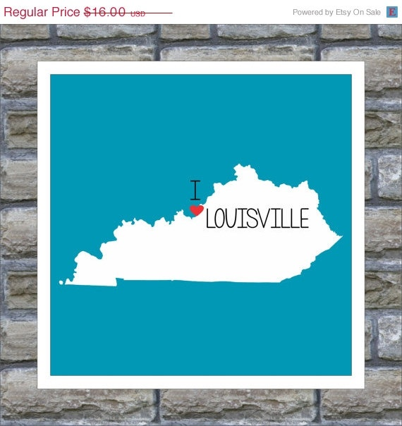 KENTUCKY State Map Art Print Personalized I by DefineDesign11