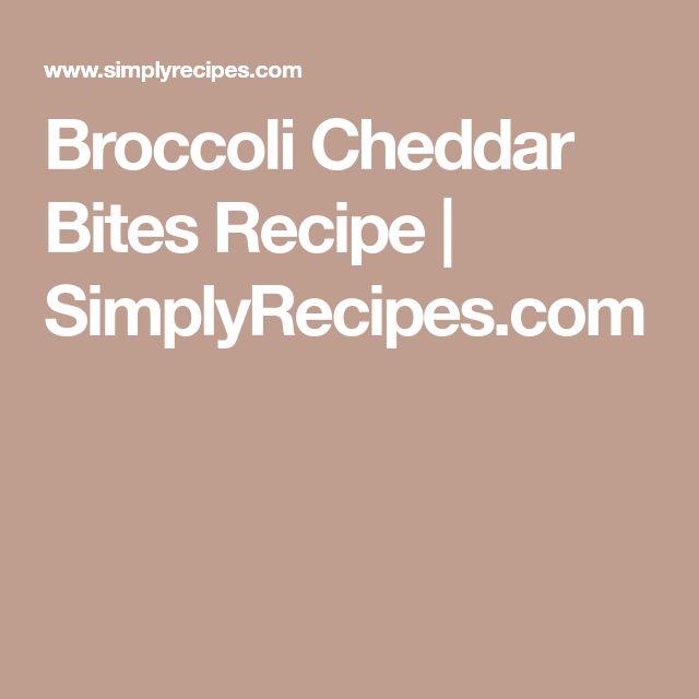 Broccoli Cheddar Bites Recipe | SimplyRecipes.com