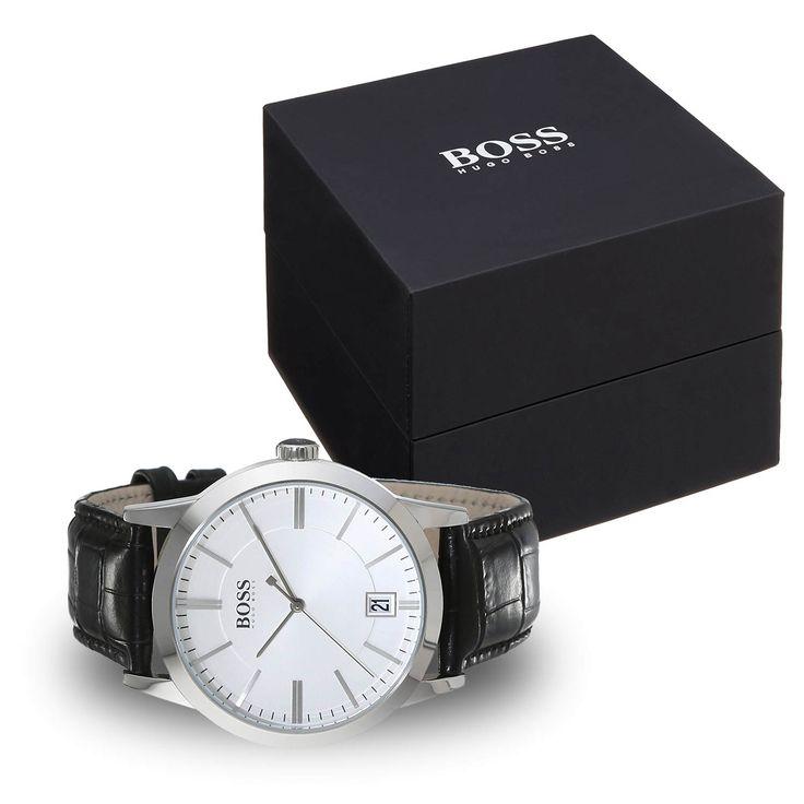#Hugo #Boss 1513130 klassische Herrenuhr / Business-Uhr mit Lederarmband