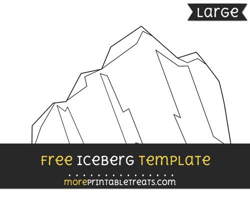 Free Iceberg Template - Large | Shapes and Templates ...
