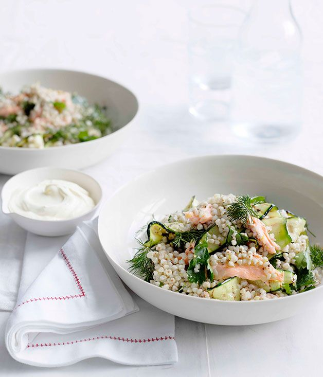 Toasted buckwheat and smoked trout salad - Gourmet Traveller