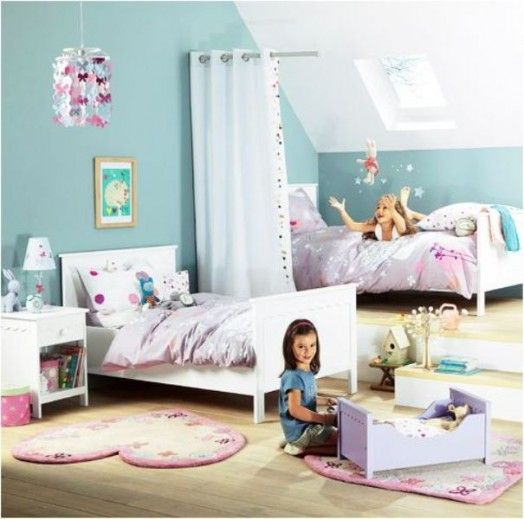 108 best shared bedroom images on pinterest child room for Kids room curtain ideas