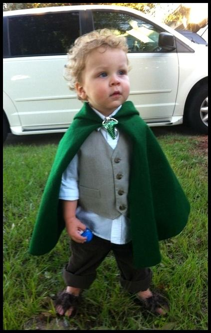 14 amazing bookish Halloween costumes for children: Hobbit Halloween costume for a baby or toddler, via Costume Works.