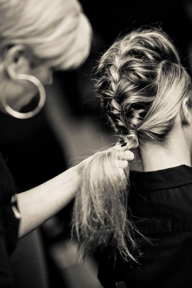 Faux hawk fishtail braid hairstyle for the dado fashion show 2013 by The Spa at the Del Monte {photo by: Erich Camping}
