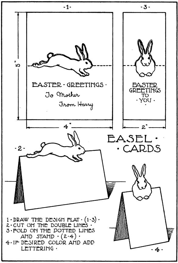 making pop up easter cards directions