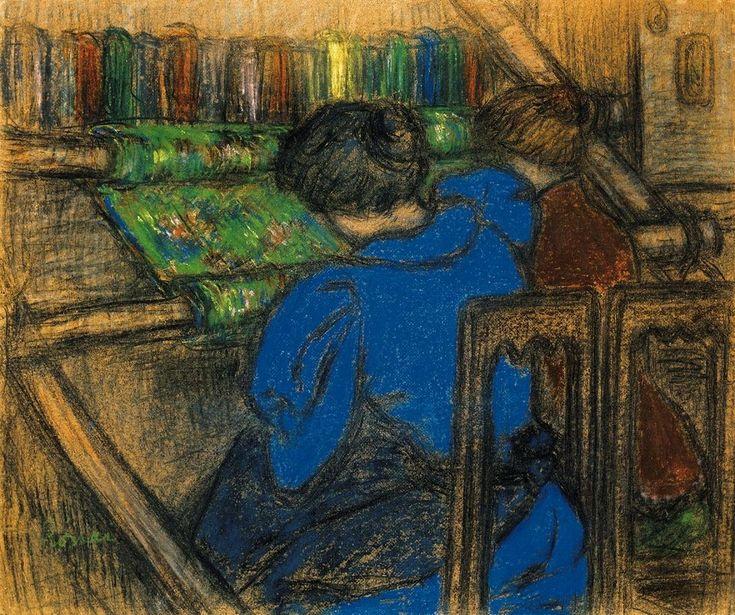 József Rippl-Rónai (1861-1927) - Embroidering Women