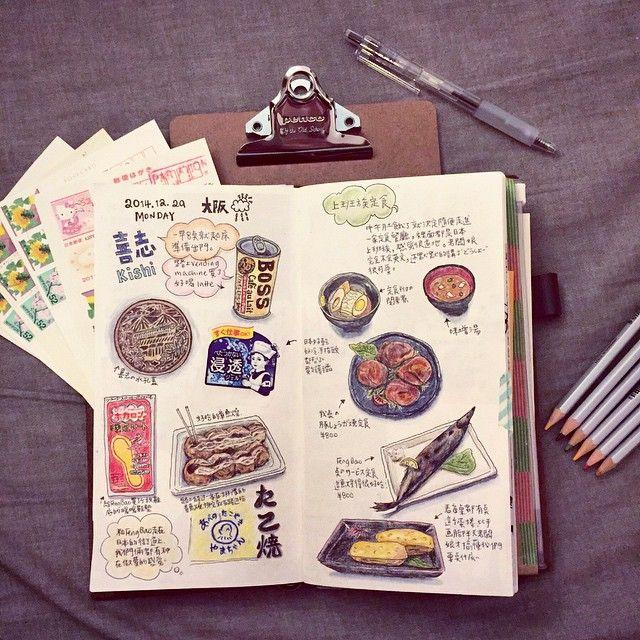Christine Hu @atinghu 繼續速向前爬 ✨ #travelersnotebook #travelersnote #手帳 #osaka #japan   Use Instagram online! Websta is the Best Instagram Web Viewer!
