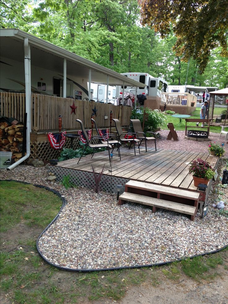 Added additional deck to RV site