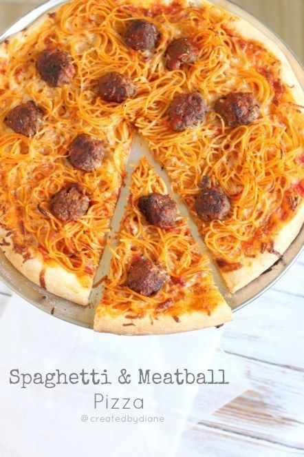Spaghetti & Meatball Pizza | 31 Exciting Pizza Flavors You Have To Try