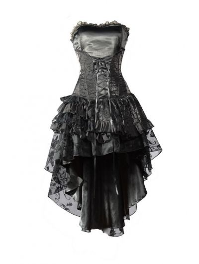 Black Corset High-Low Gothic Party Dress by DEVILNIGHTUK.deviantart.com on @deviantART