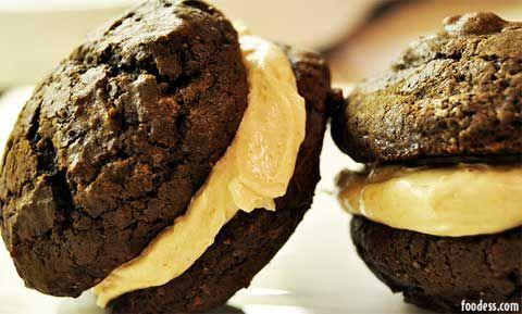 BarraDoce.com.br - Confeitaria, Cupcakes, Bolos Decorados, Docinhos e Forminhas: Receita: Whoopie de Chocolate com Recheio de Buttercream de Caramelo