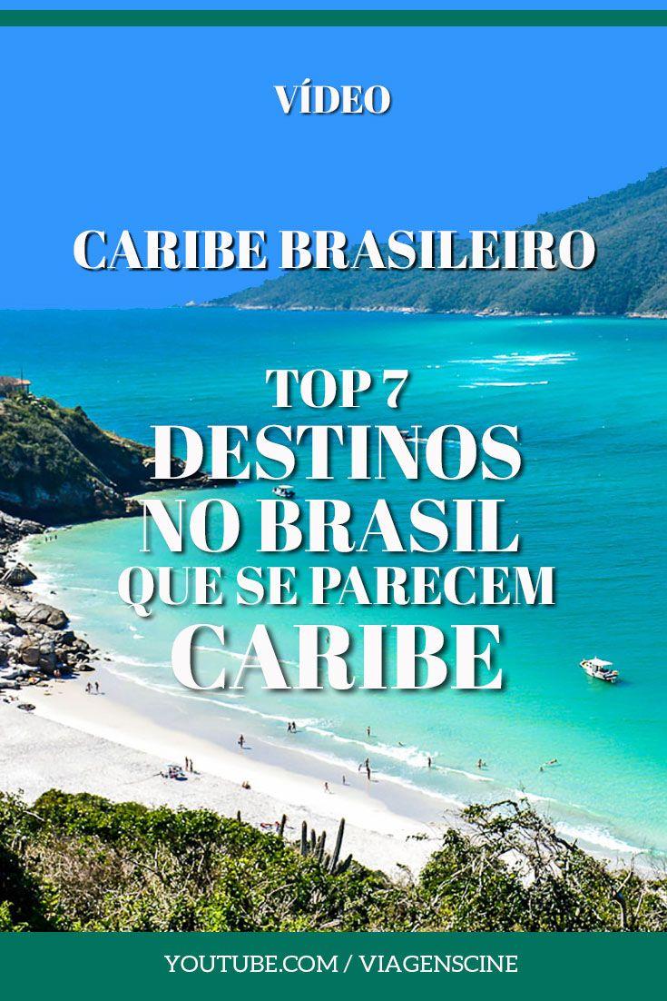 Caribe Brasileiro: existem destinos no Brasil que fazem a gente se sentir no Caribe. Praias de água cristalina, cor azul turquesa ou verde esmeralda, mar calmo e areias brancas. Confira essa lista de 7 destinos no Brasil para se sentir no Caribe #CaribeBrasileiro #viagem #youtube