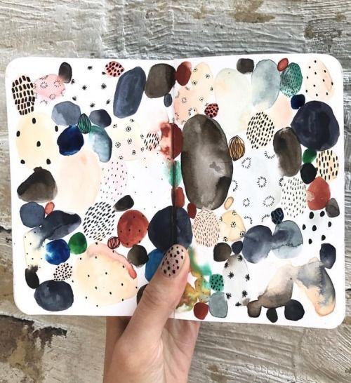 Boccacchini meadows / Sara #art #journal #sketchbook #moleskine