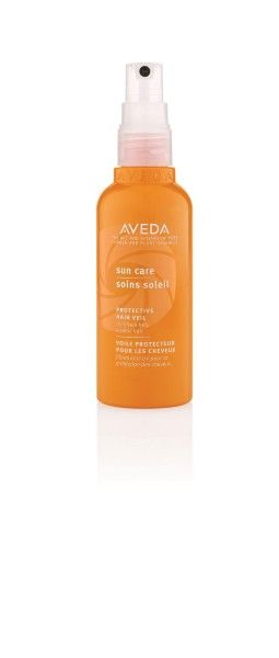 Protect your beautiful Aveda hair color with a few spritzes of Sun Care Hair Veil, our beach bag must-have every summer.