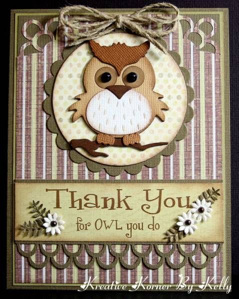 Thank You For Owl You Do by kcs1955 - Cards and Paper Crafts at Splitcoaststampers