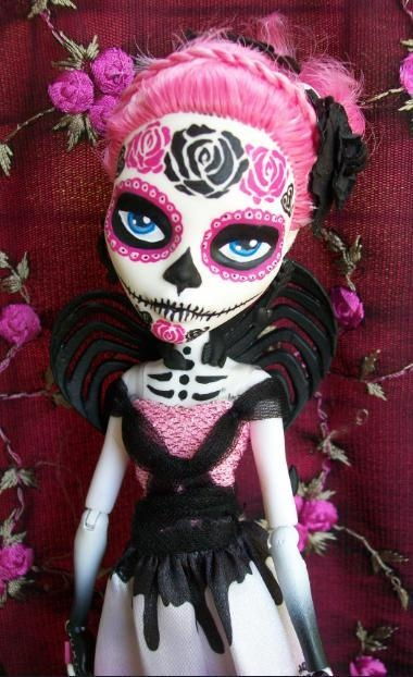 ~Monster High Custom Cupid OOAK Day of the Dead Dia De Los Muertos | eBay~