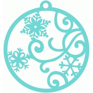 Silhouette Design Store: snow flurry gift tag
